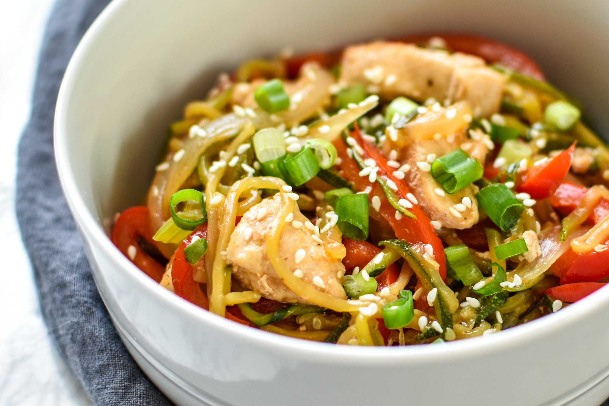 Camouflage Dishes Zucchini Chicken Lo Mein Project Meal Plan