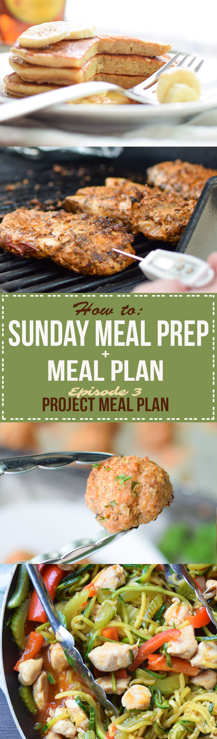 Sunday Meal Prep for August 7th - meal plan, step by step Sunday prep directions, shopping list, and daily notes for the week! - ProjectMealPlan.com