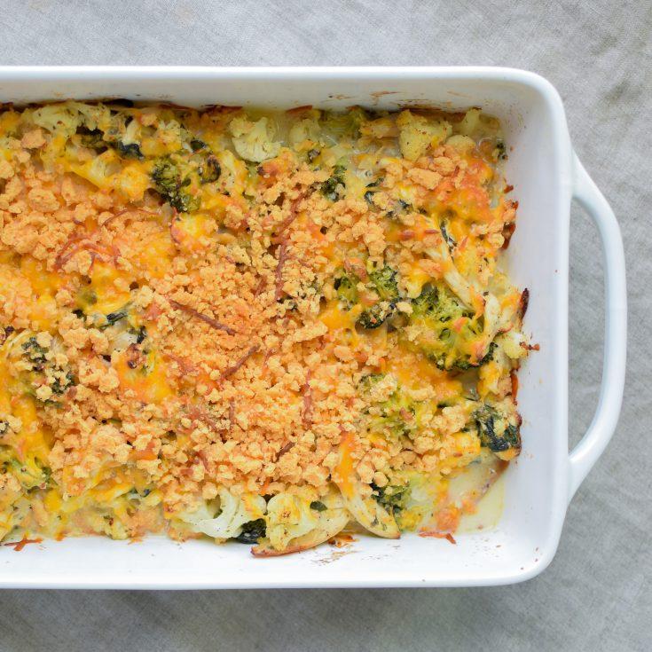 #1 Veggie Loaded Rotisserie Chicken Casserole