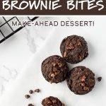 Freezer Friendly Sweet Potato Brownie Bites recipe