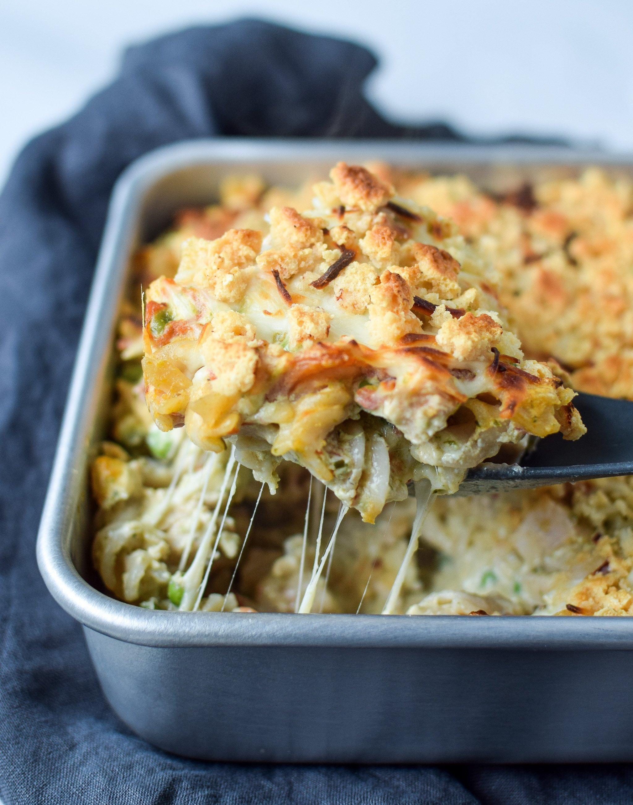Creamy Pesto Pasta Chicken Bake With Peas Project Meal Plan