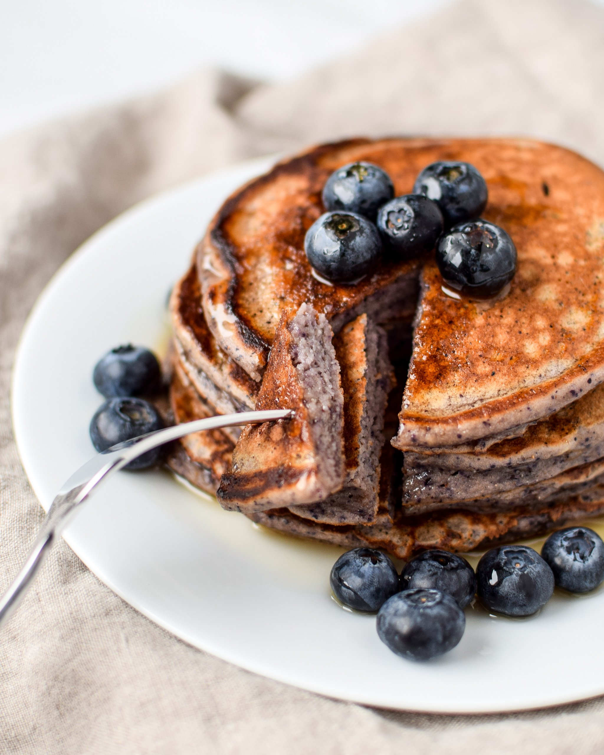 Lemon Poppy Seed Blueberry Protein Pancakes - Project Meal Plan