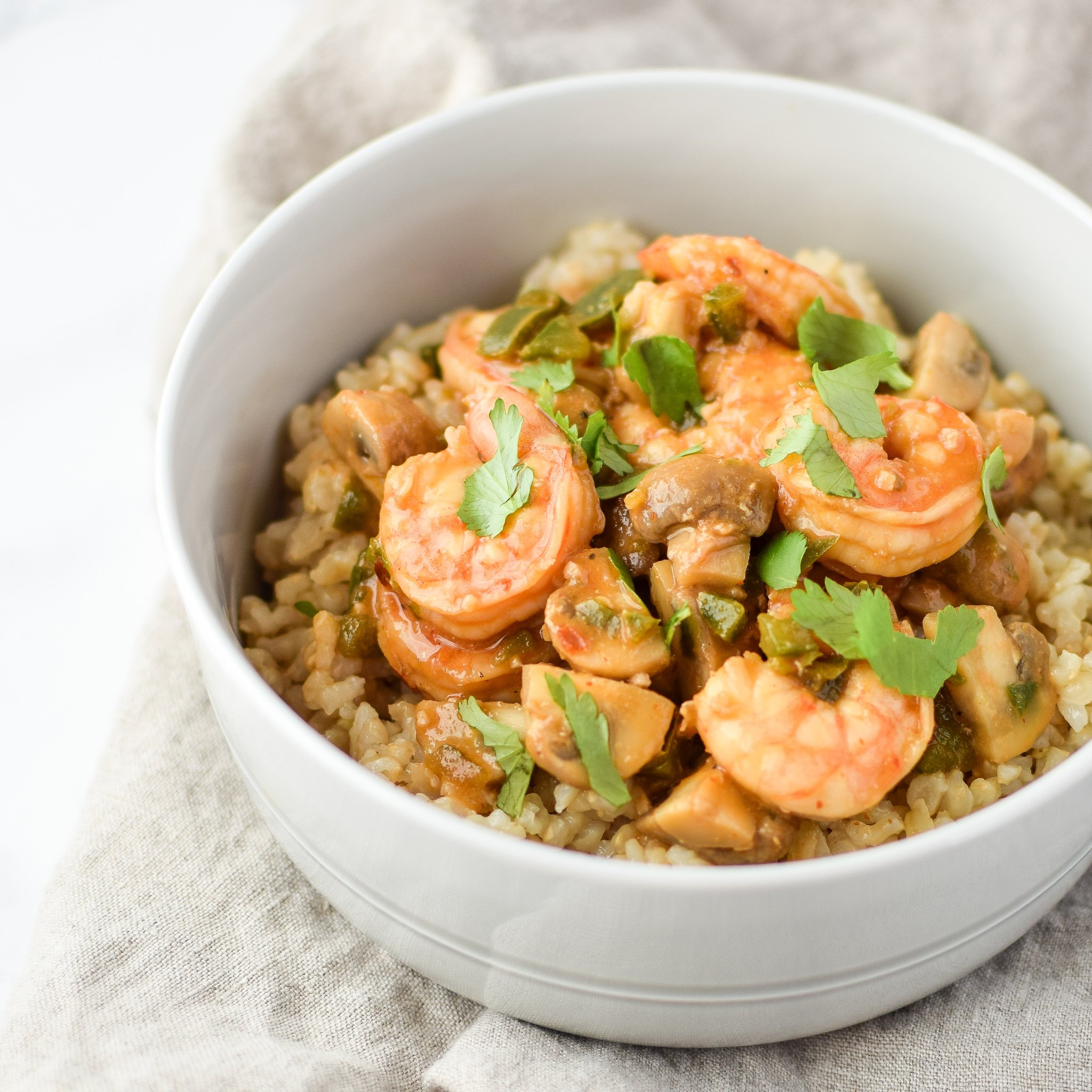 Easy Jalapeño Mushroom Shrimp Stir-Fry For Two recipe