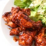 Smoky Habanero Barbecue Grilled Chicken Wings recipe - Crispy barbecue grilled wings smothered in smoky hot tangy habanero BBQ sauce! - ProjectMealPlan.com