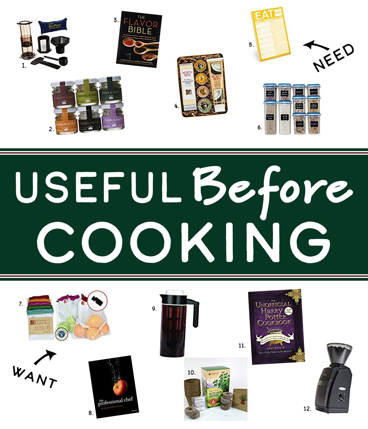 Holiday Gift Guide for the Home Cook - Find useful things home cooks love and use every day in this year's Holiday Gift Guide for the Home Cook! Here are Useful Gift Ideas for Before Cooking!