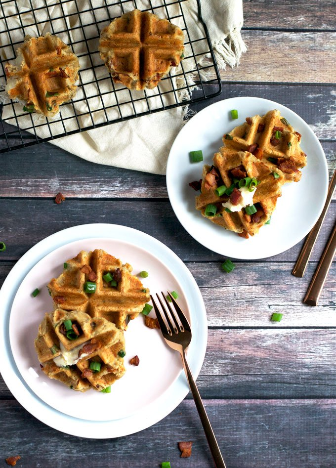 12 Ways to Turn Thanksgiving Leftovers Into Glorious Breakfast Food - Check out some great ideas to help you turn all those delicious leftovers into breakfast! Here are some waffles ready to be eaten! - ProjectMealPlan.com