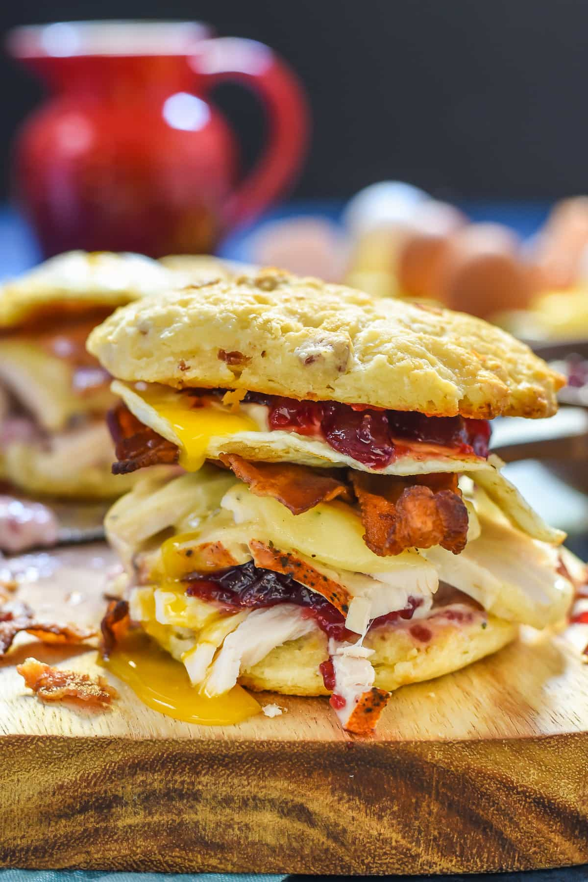12 Ways to Turn Thanksgiving Leftovers Into Glorious Breakfast Food - Check out some great ideas to help you turn all those delicious leftovers into breakfast! This is probably the best looking breakfast sandwich in existence!