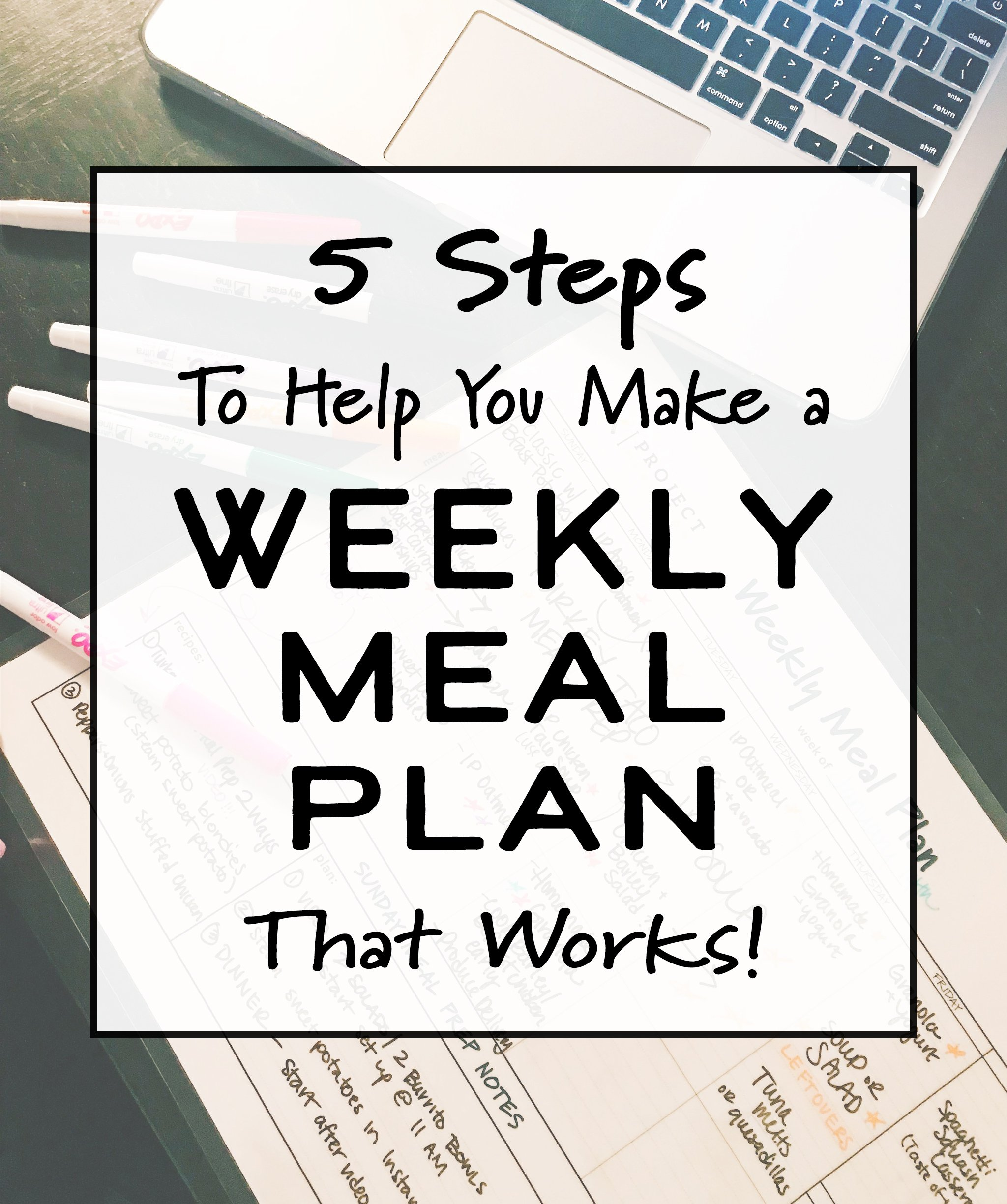 Cover photo for the article 5 Steps to Help You Make a Weekly Meal Plan That Works.
