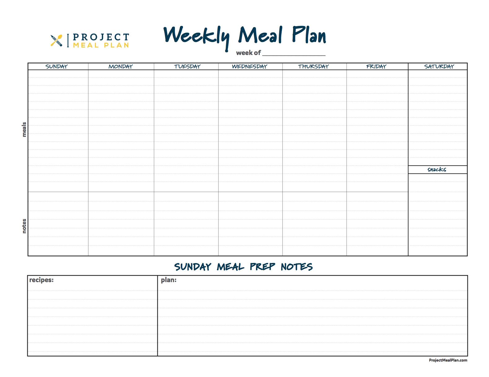 Weekly Meal Planner copy