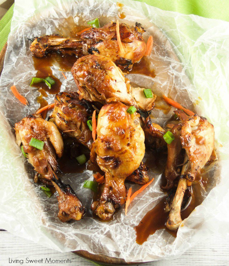 Instant Pot Ginger Garlic Drumsticks cooked in the Instant Pot.