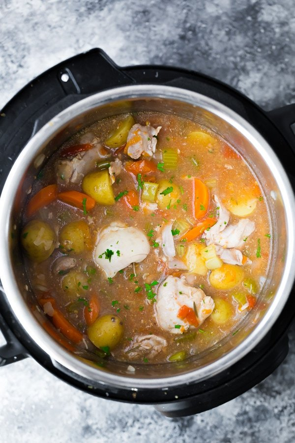 Instant pot tuscan chicken stew from sweet peas and saffron