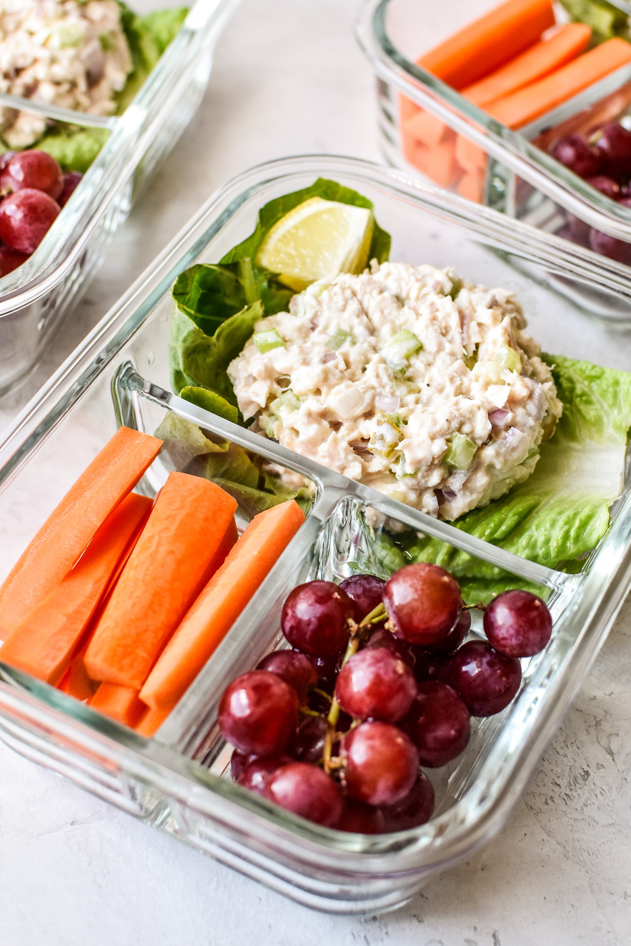 Tuna Salad lettuce wraps meal prep