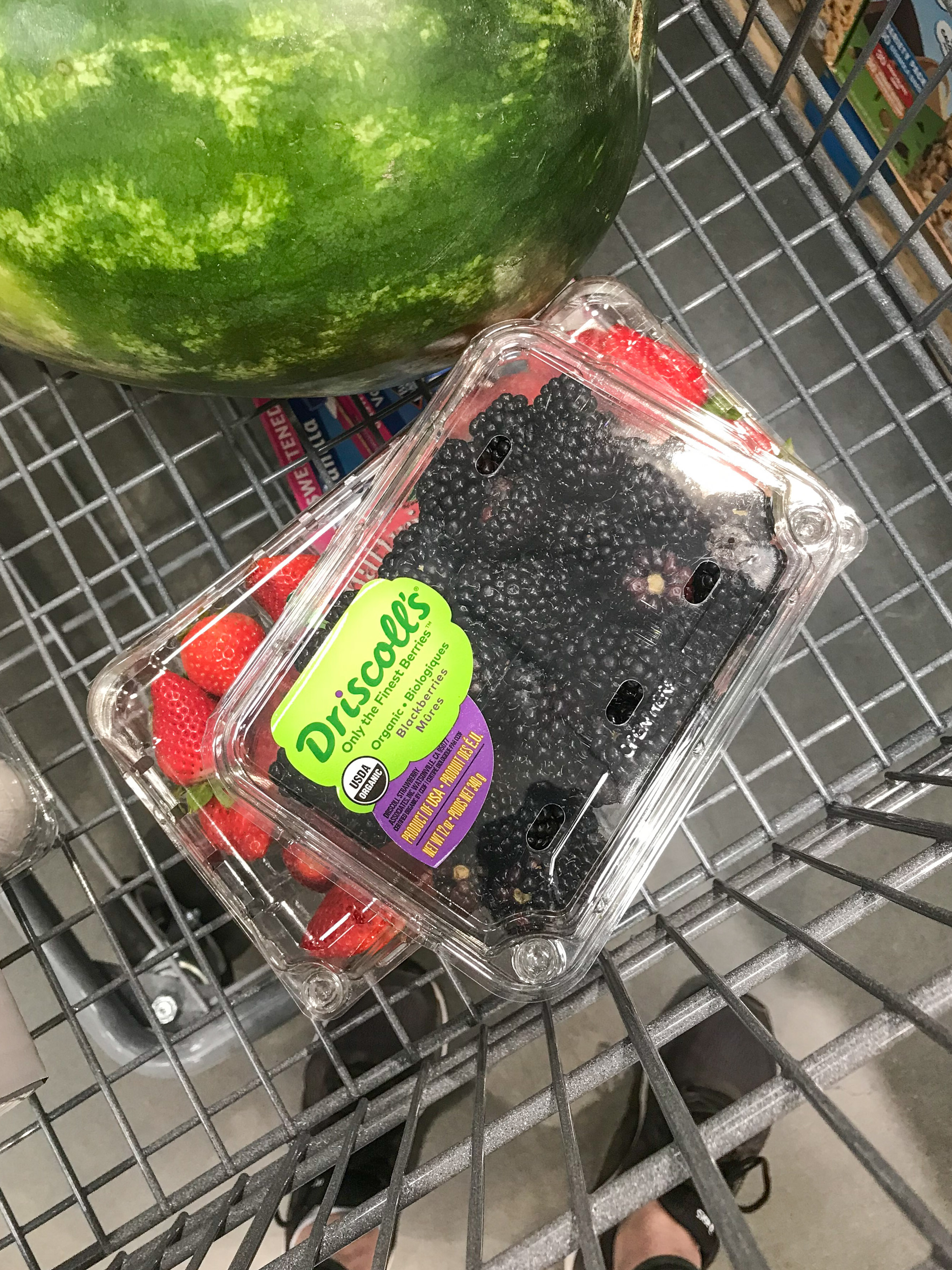 Organic berries from Costco