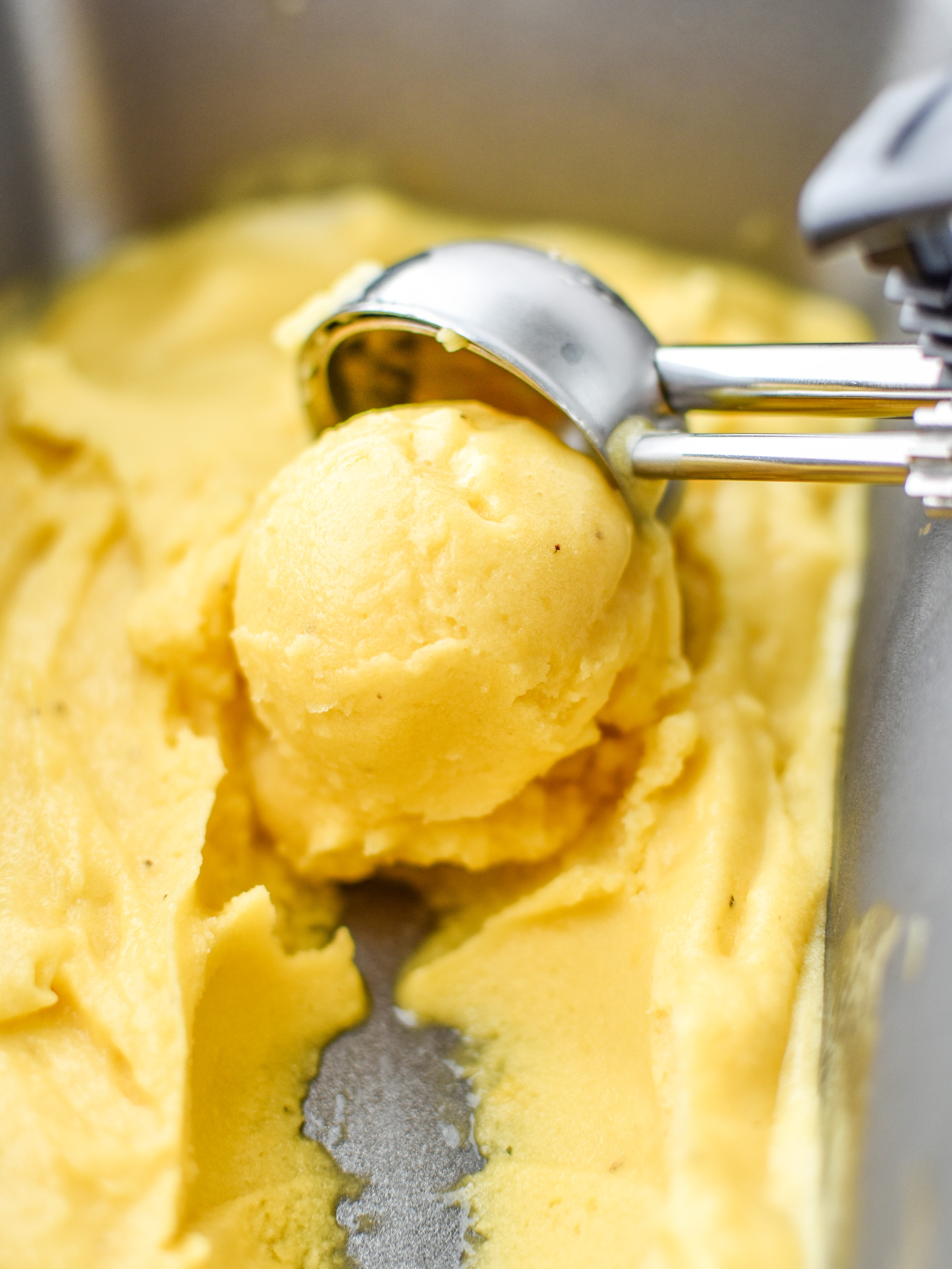 Scooping up some Mango Lime Nice Cream