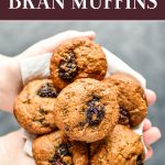 pin for blackberry bran muffins