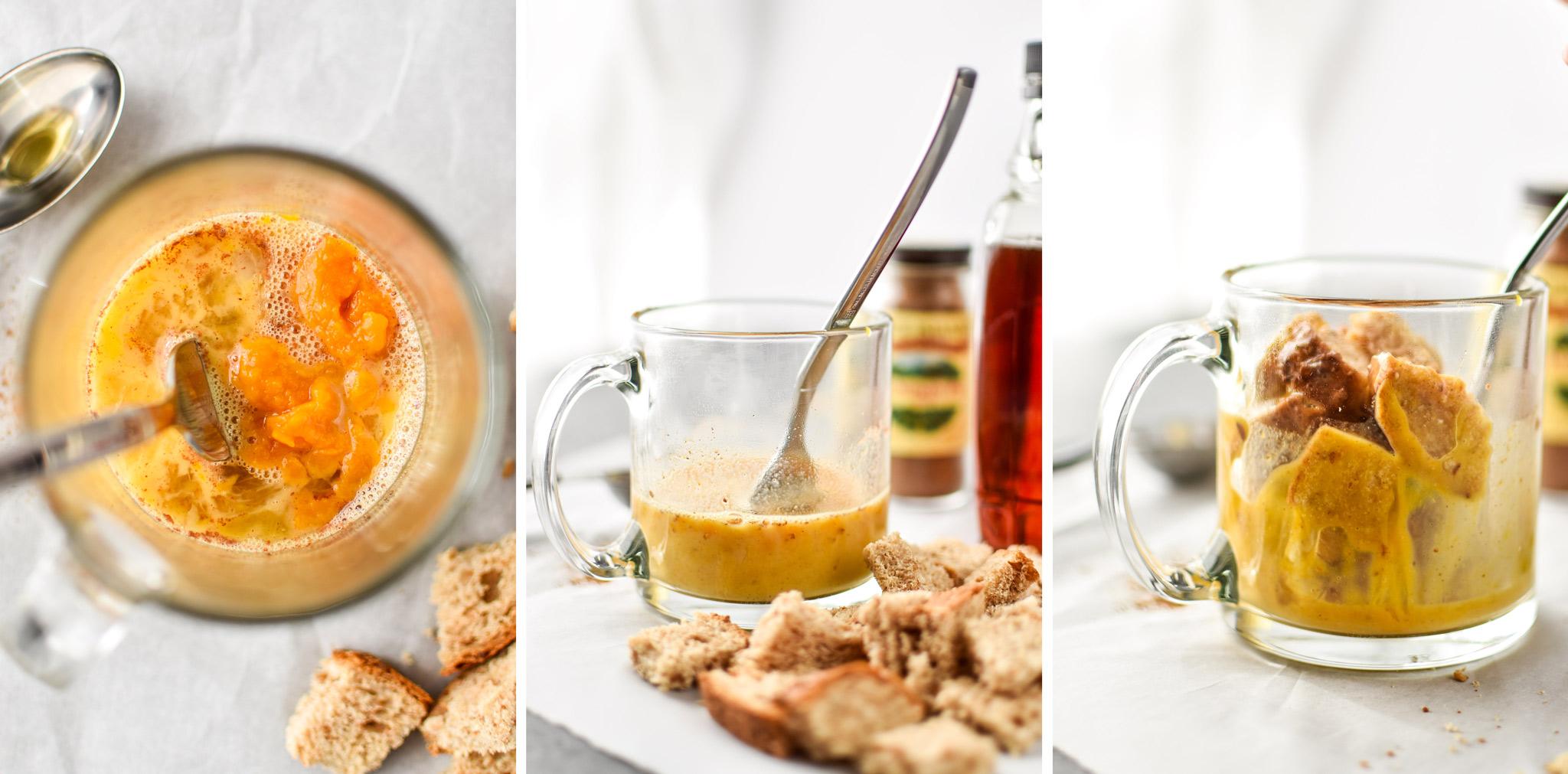 how to make the microwave mug french toast