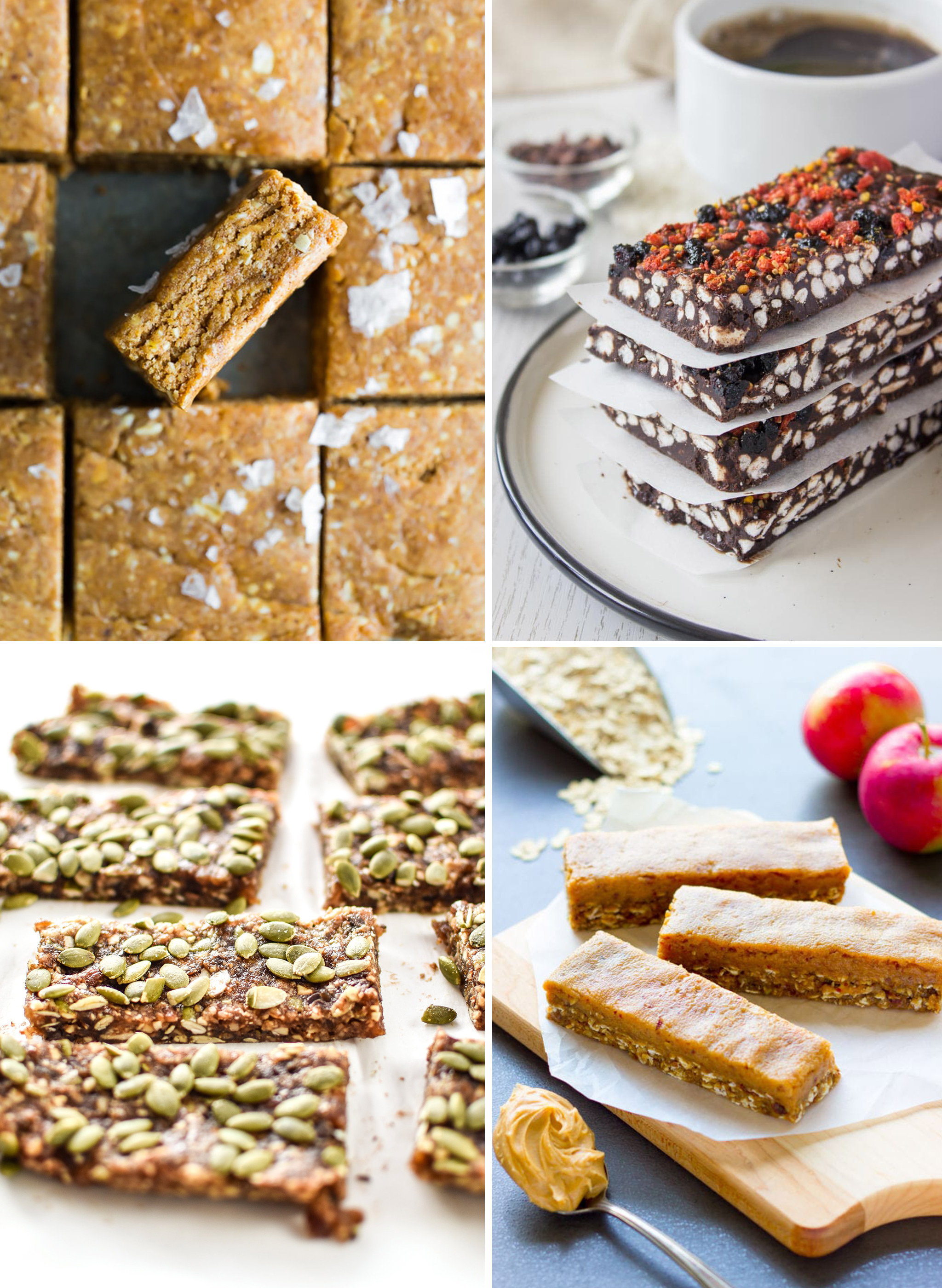 4 different kinds of no bake healthy snack bar recipes you can meal prep