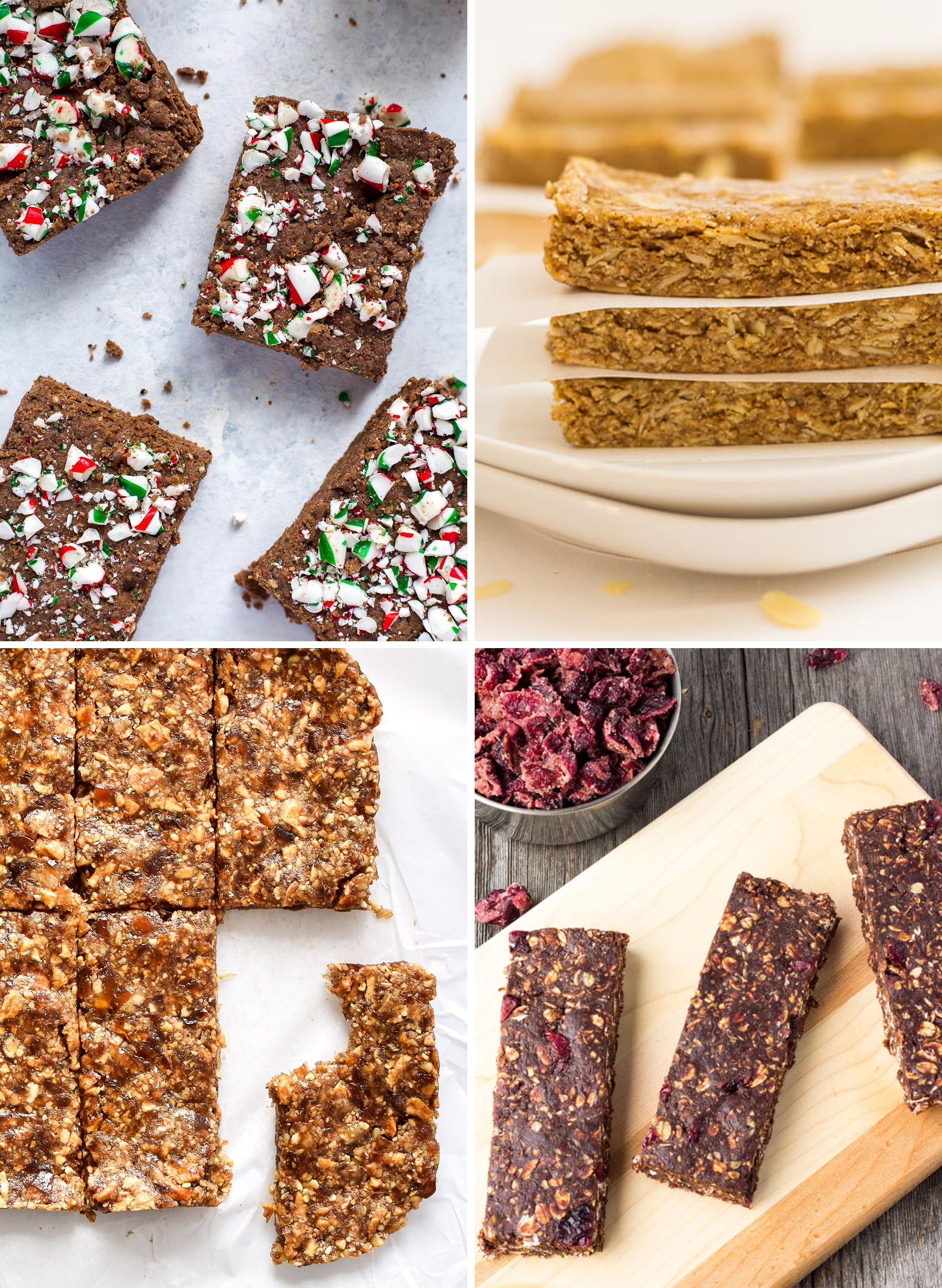 4 kinds of no bake homemade snack bars you can meal prep