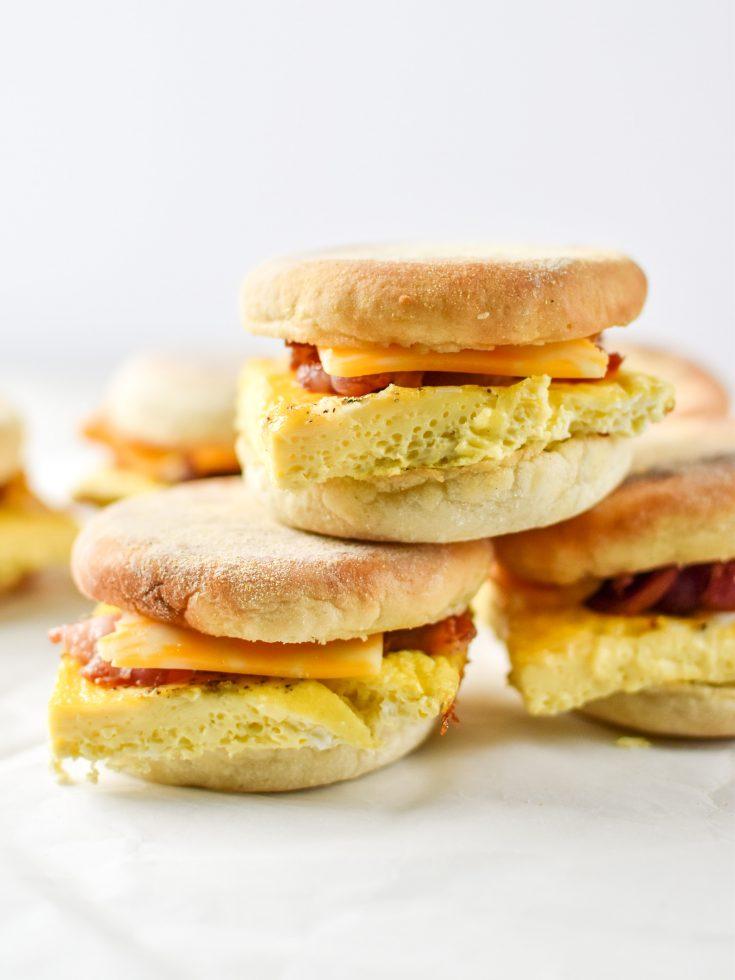 Make-Ahead Bacon Breakfast Sandwiches