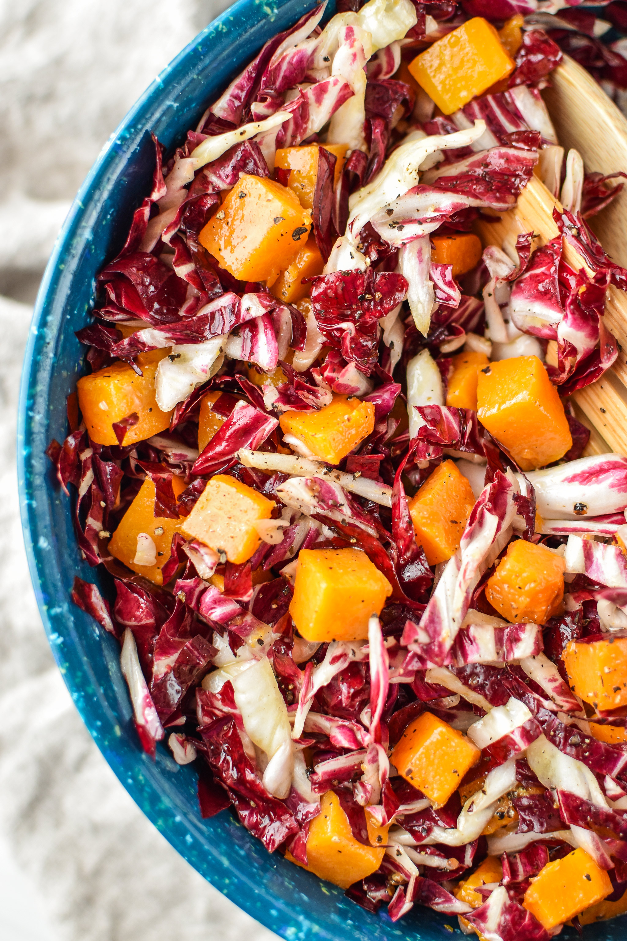 Radicchio and roasted squash salad