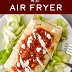I'm bringing that crispy deep-fried restaurant style meal straight to your kitchen by teaching you How to Make Chimichangas in an Air Fryer! These chimichangas work great for meal prep and are freezer friendly! #airfryerrecipes #airfryer #chimichangas #projectmealplan