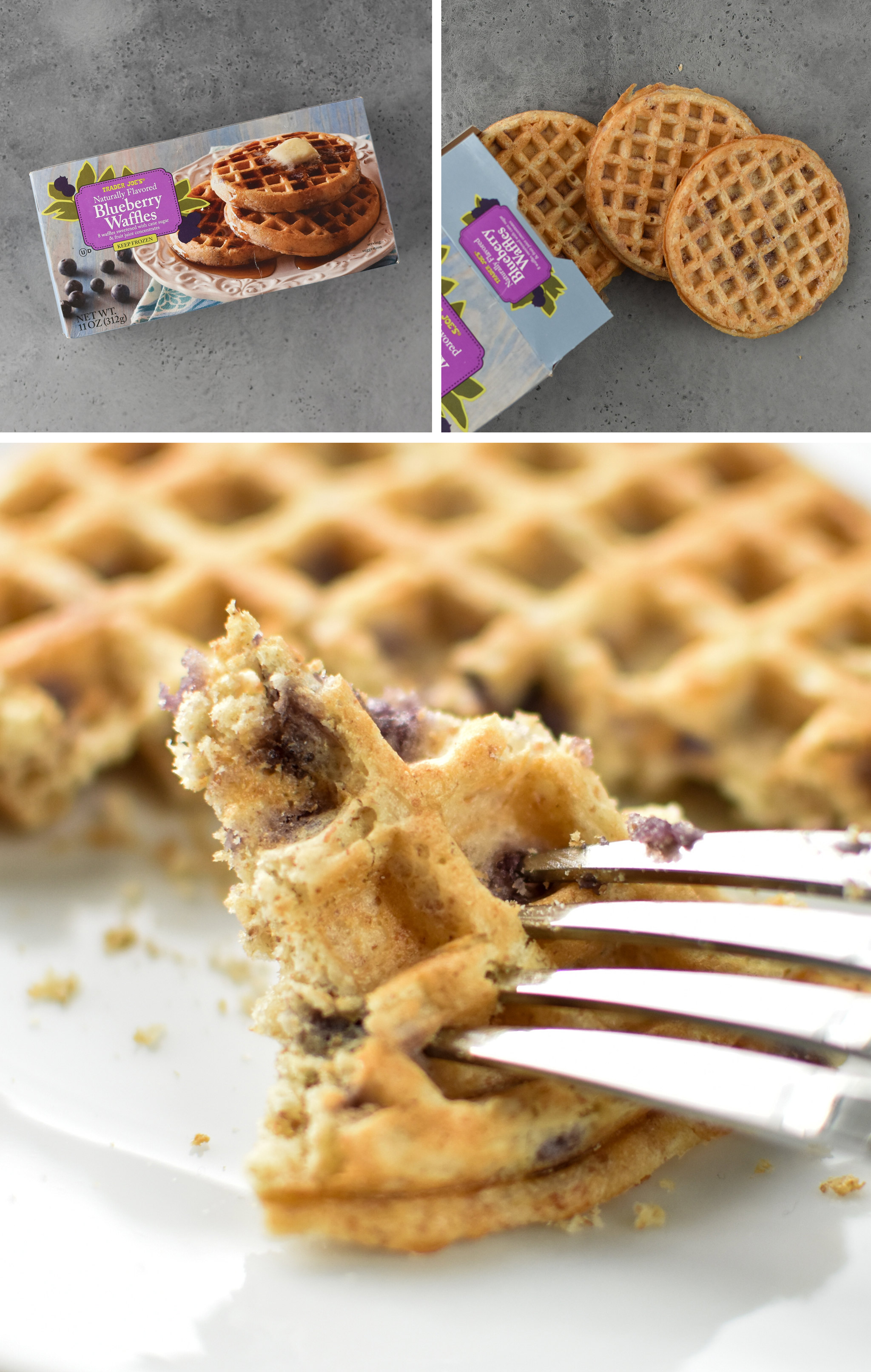 blueberry waffles made in the air fryer