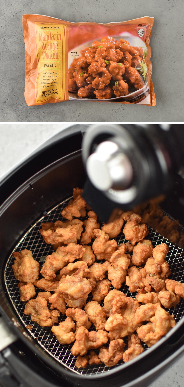 Trader Joe's Mandarin Orange chicken made in the air fryer
