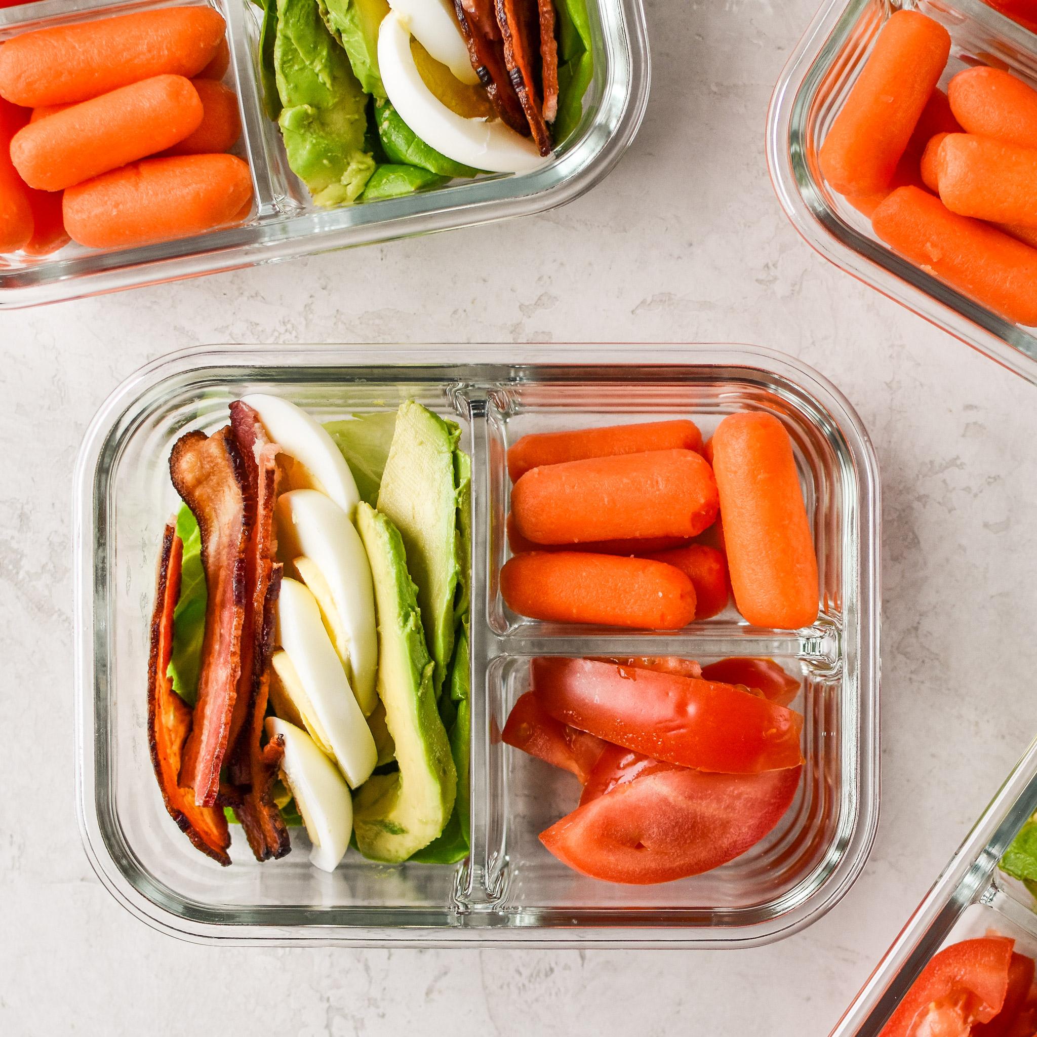 BLTA Lettuce Wraps Meal Prep
