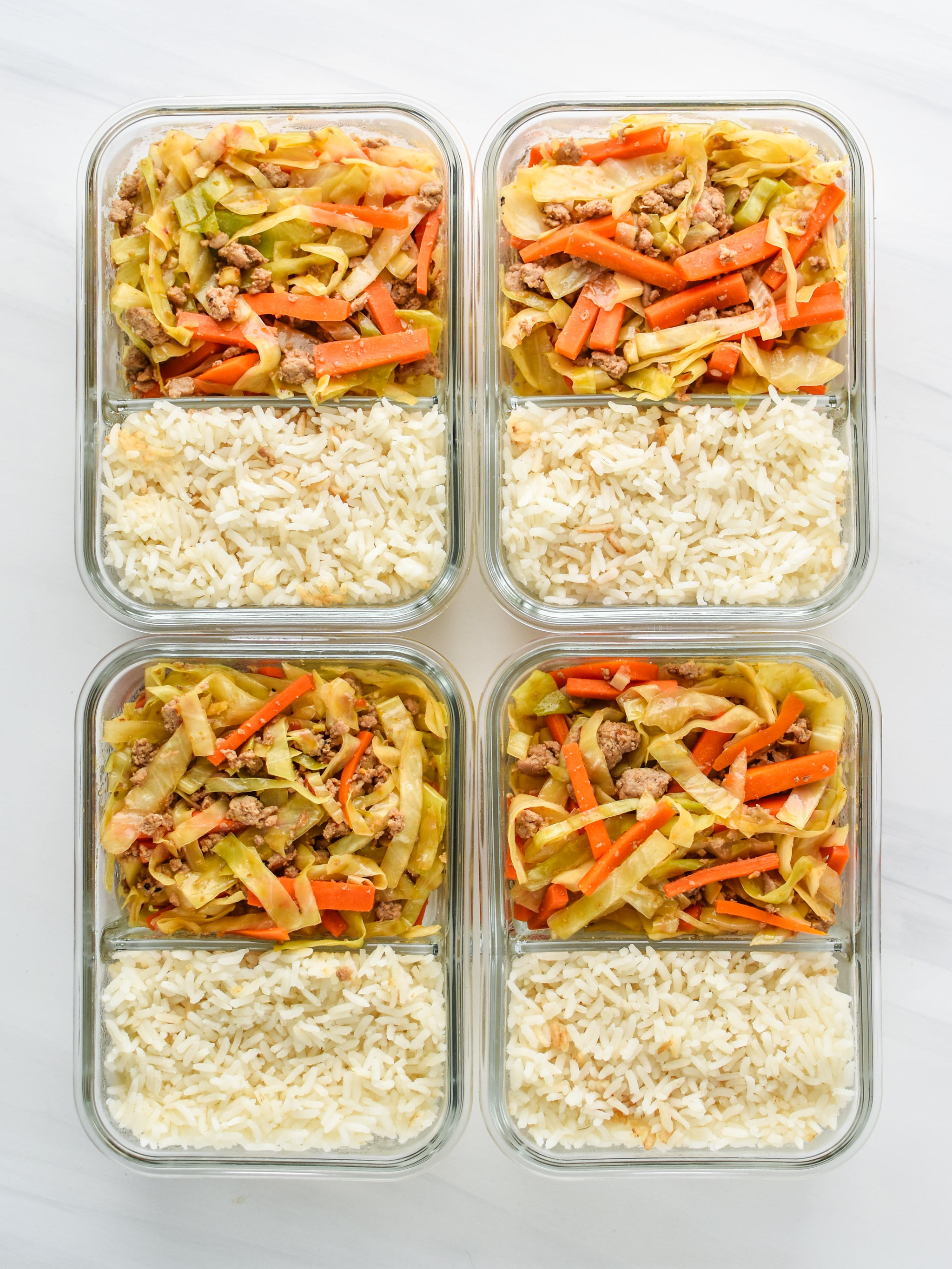Meal Prep lunch Recipes - this is a spicy ground turkey and veggie meal prep with rice.