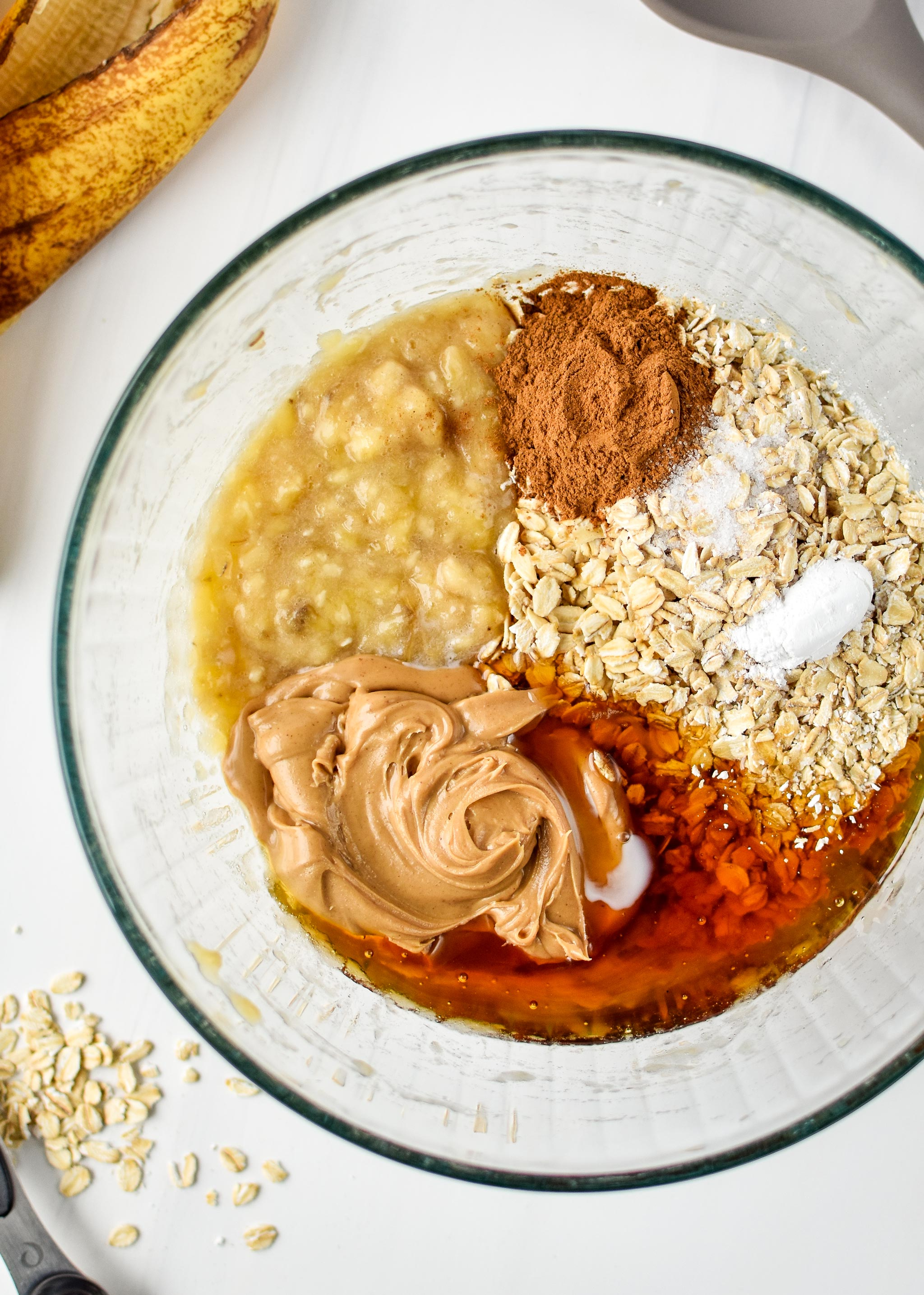 All the ingredients for the Banana Oatmeal Breakfast Bars