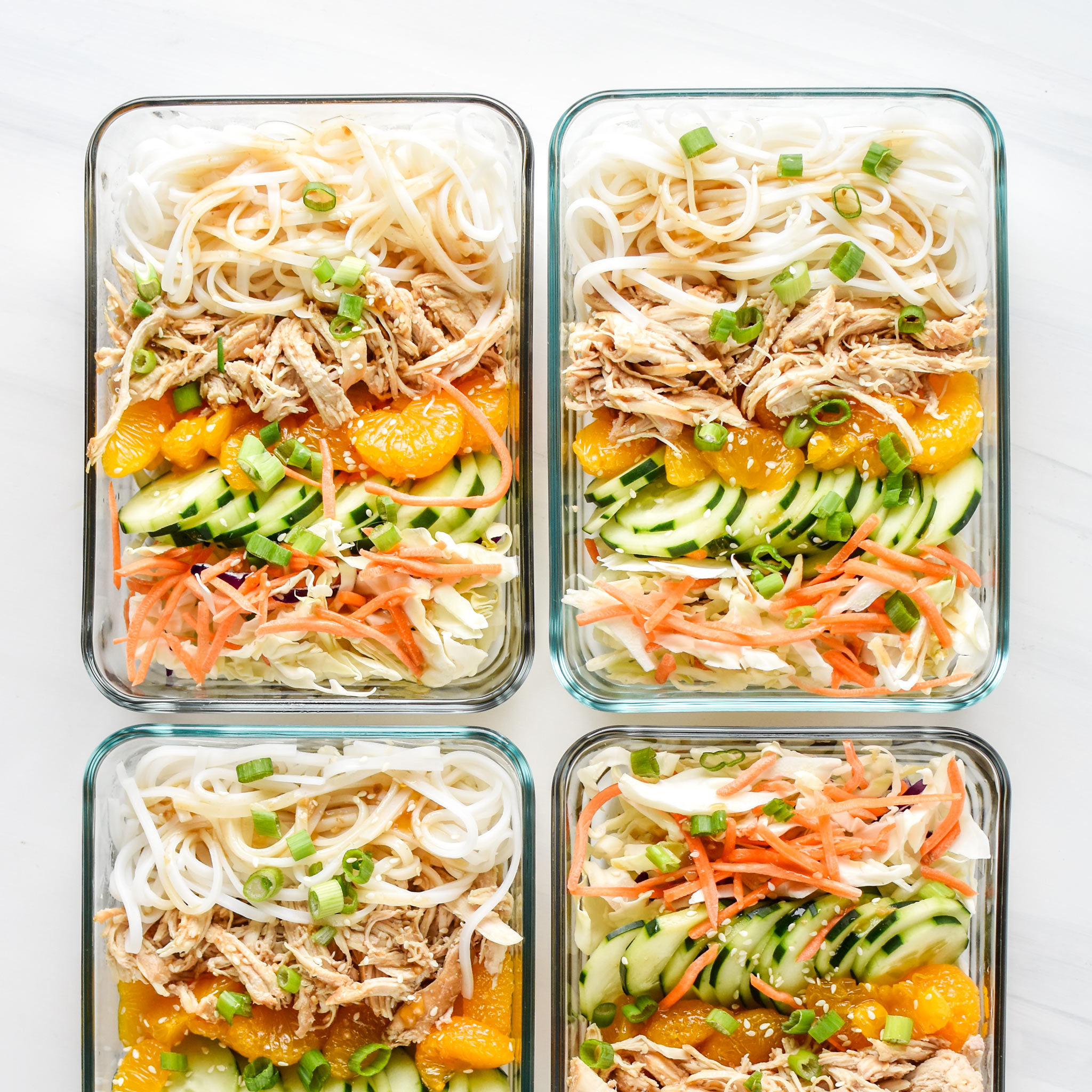 Sesame Chicken Cold Rice Noodle Salad Lunches Project Meal Plan