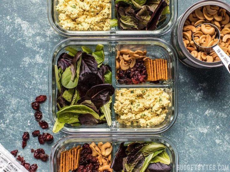 Curried Tofu Salad Meal Prep