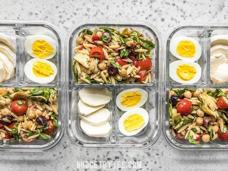 Orzo Salad Meal Prep