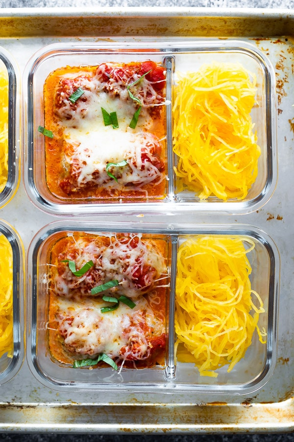 Baked Meatball Meal Prep with Spaghetti Squash