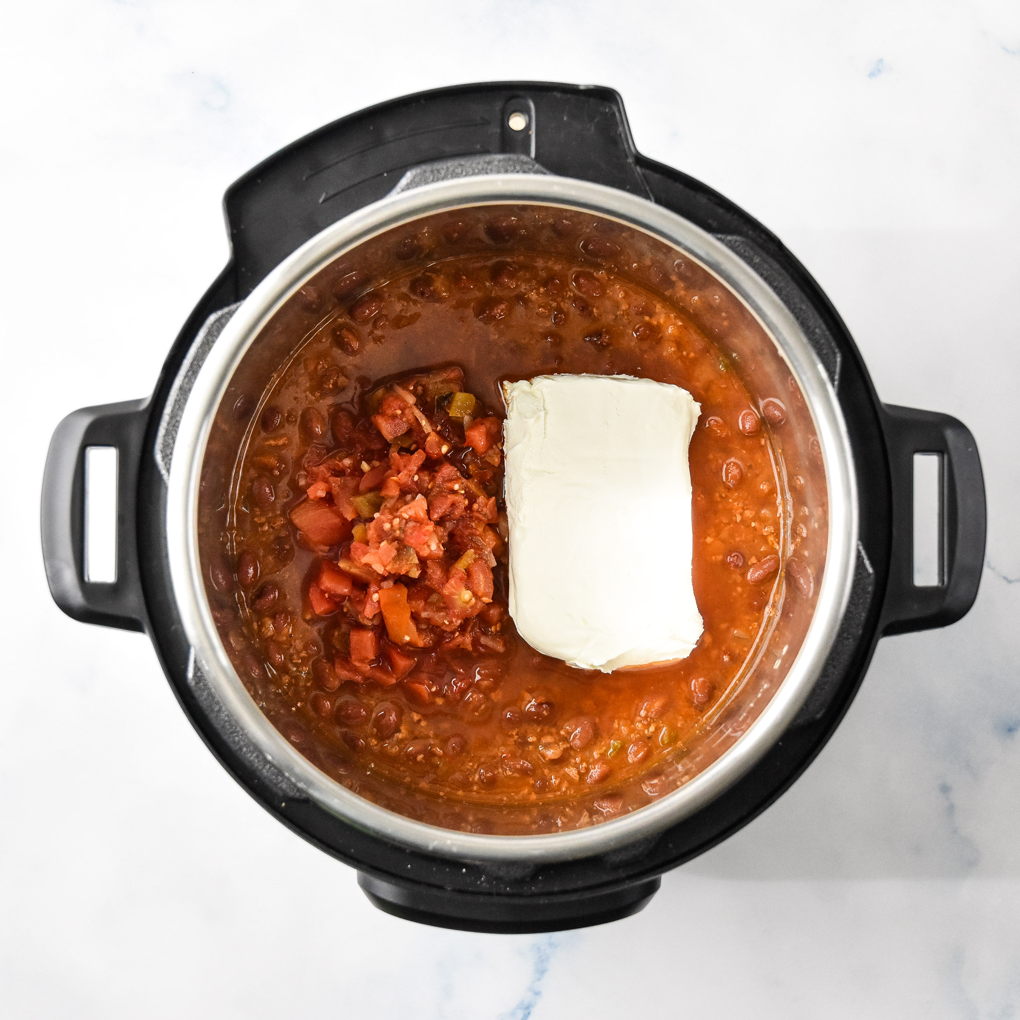 ingredients in the chili cheese dip in the instant pot