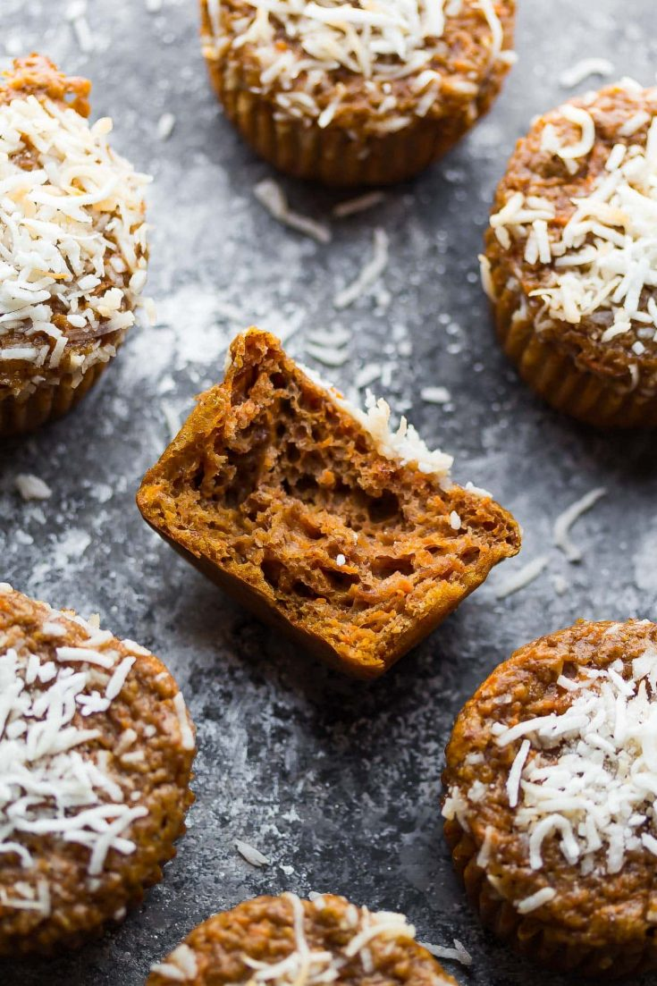 Carrot Lentil Protein Muffins