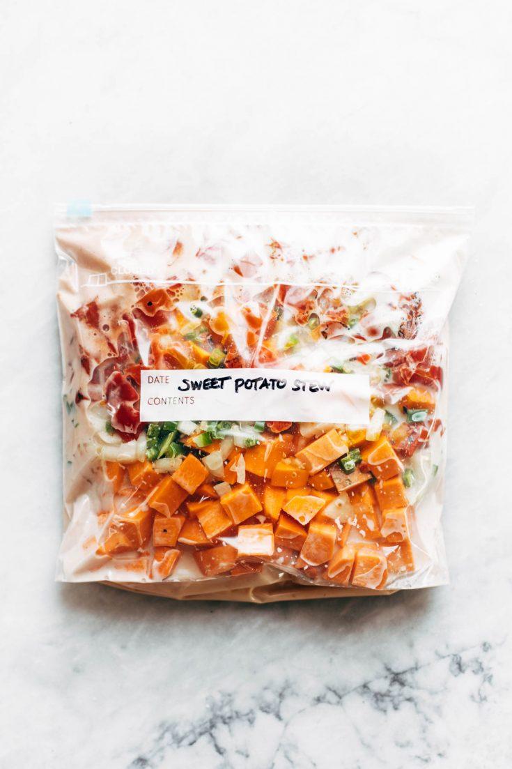Freezer Meal Spicy Sweet Potato Peanut Stew