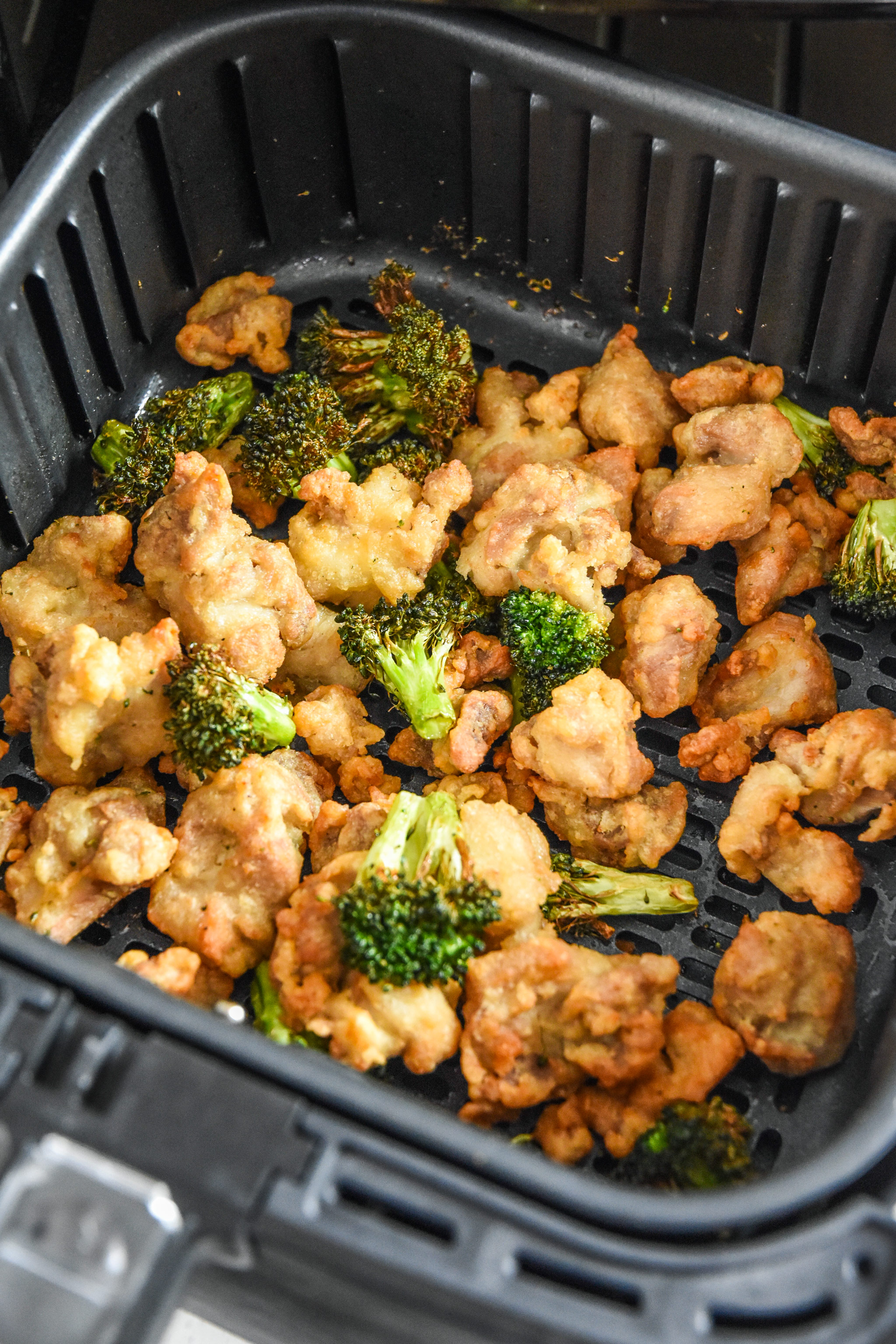 trader joes orange chicken and broccoli cooked in the air fryer