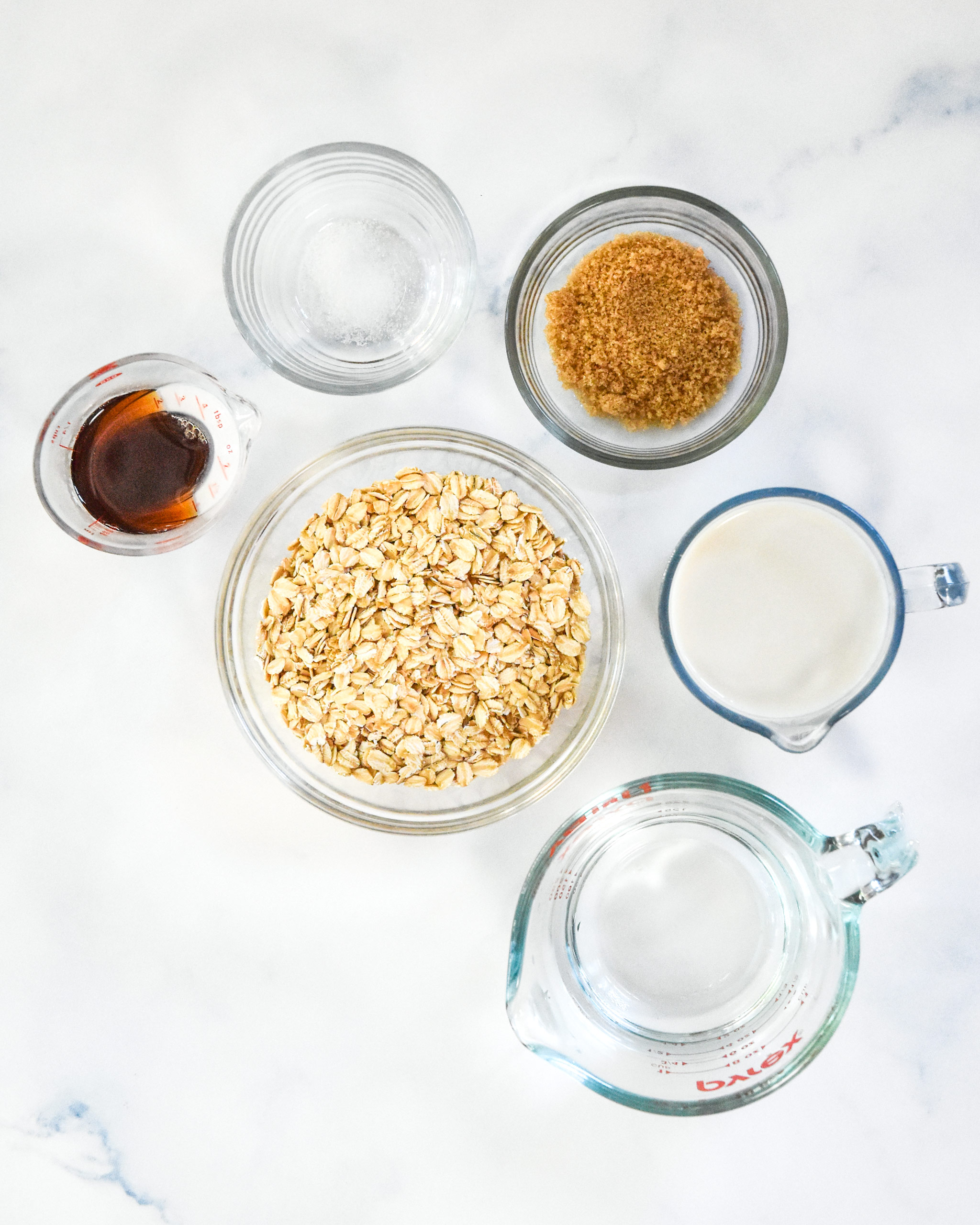 ingredients for the instant pot maple brown sugar oatmeal