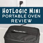 cover photo with words for the hotlogic mini portable oven review.