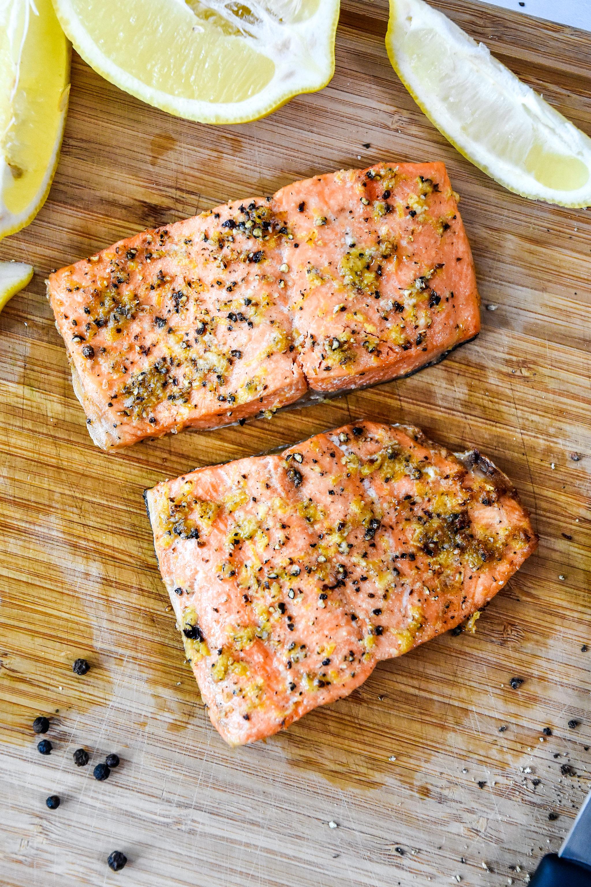 Air Fryer Lemon Pepper Salmon